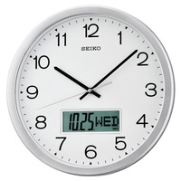 Seiko Wall Clock QXL007S Analog Digital