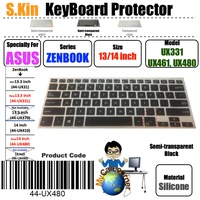 S.KIN 13 14 inch ASUS ZENBOOK 13inch UX331 14inch UX461 UX480 VivoBook Sseries S14 S406 ASUS Laptop TPU Silicone Keyboard Protector Skin Cover ( 44-UX480 Transparent Black White)
