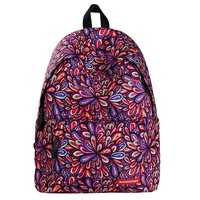 LingTud Fashion Printed Backpack Cute For School Lightweight Backpack College Student Women Backpack Flower Red School