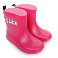 Stample日本製兒童雨鞋(蜜桃紅)
