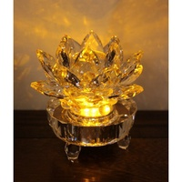 [菲麗雅精品屋]琉璃蓮花加LED燈座 可當佛燈 神燈 神明燈 祖先燈