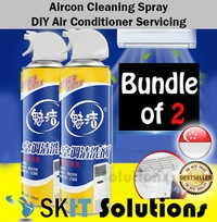 Pack of 2 Aircon Cleaning Spray DIY Air Conditioner Con Clean Tool Service Cleaner
