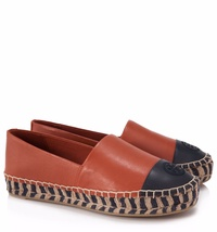 Tory Burch Colour Block Platform Espadrilles Flat