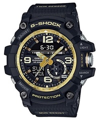 (Casio) Men s Casio G-Shock Master of G Mudmaster Series Black and Gold-Tone Watch GG1000GB-1A-GG...