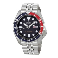 SEIKO DIVER CASUAL ANALOG SKX009K2 STAINLESS STEEL SILVER MENS WATCH