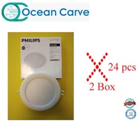 24 PCS PHILIPS 59524 MARCASITE 18W LED DOWNLIGHT DAYLIGHT 6500K (ROUND)