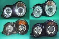 ☆小傑車燈家族☆全新BENZ賓士W208 CLK晶鑽版光圈魚眼大燈(有電動水平功能)限定發售
