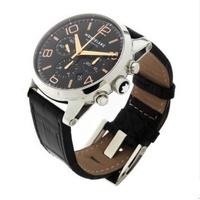 萬寶龍Montenegro手錶 男士時光行者系列三眼計時日曆腕錶 萬寶龍手錶 MB-101548 三眼計時錶 機械錶