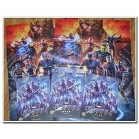 復仇者聯盟4終局之戰終極檔案小羅伯特唐尼等5人親筆簽名畫冊海報