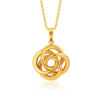 HAHA 916 Interwined Gold Pendant