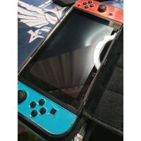 switch 紅藍主機 近全新 含水晶殼保護包