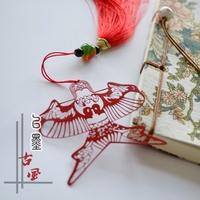 ۞✘☜Wen-Paper Kite-Kite Classic Tassu Metal Bookmark Chinese wind stainless stee