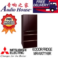 MITSUBISHI MR-WX71Y-BR 6 DOOR FRIDGE ***1 YEAR MITSUBISHI WARRANTY***
