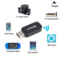PA  Bluetooth 2.0 Music Audio Mono Receiver 3.5mm A2DP Adapter USB Wireless for Android/IOS Phone