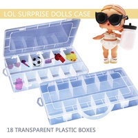 MyAnswer 18 Compartments Toy Storage Carrying Box Accessories For LOL Surprise Dolls Free shipping