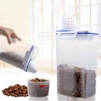 Pet Food Storage Container Dog Cat Dry Food Dispenser With Cup Pet Supplies - intl