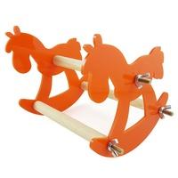 鸚鵡 啃咬玩具鞦韆亞克力站架站槓 搖搖椅 蹺蹺板 童趣小木馬