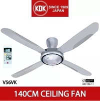 KDK CEILING FAN WITH REMOTE (V56VK) 140CM(56 Inches) - 1 YEAR WARRANTY From KDK SINGAPORE