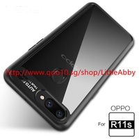 ★ Phone Case For OPPO R11S / R11S Plus Silicone Acrylic Hybrid Shockproof Transparent Back Cover