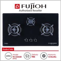 Fujioh ( FH-GS5530 SVGL ) 3 Burner Built-In Gas Hob with Toughened Glass Top