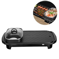 2 In 1 1200W Electric Hot Pot Multi-functional BBQ Oven Electric Pan Non-stick Cookware 220V US Plug