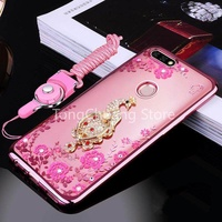 For Huawei Nova 2 Lite Casing Soft Cellphone Cover Mobile Phone Case With Ring Holder