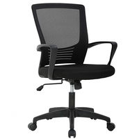 Office Chair Ergonomic Cheap Desk Chair Swivel Rolling Computer Chair Executive Lumbar Support Task Mesh Chair Metal Base for Home Office