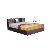 เตียงนอนไม้ 5 ฟุตD3 + ที่นอนสปริง สีโอ๊ค