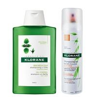 KLORANE蔻蘿蘭 控油乾洗髮超值組
