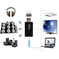 Wireless Bluetooth Audio Transmitter Receiver 3.5mm 2 in 1 USB Bluetooth 4.0 A2DP Dongle Adapter for