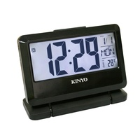 TD-391 大字幕LCD多功能電子鐘 時鐘 鬧鐘 掛鐘 壁鐘 LCD電子鐘【迪特軍】
