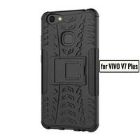 "Case For VIVO V7 Plus V7Plus V7+ Case 5.99"" TPU + PC Armor Full Protection Kickstand Phone Back Cover kes"