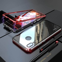 Magnetic Adsorption Metal Case for Huawei Nova 3i Transparent Glass Cover Magnets Frame Armor For Huawei Nova 3 3i 4 Mate 20 P20 P30Pro LitePhone Case