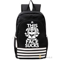 Pop And Pipi Midea Daily Life Related Products School Bag Anime 2D Word Spoof Backpack Men And Women Backpack