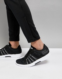 Superdry Sport Knitted Sneakers In Black / White