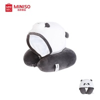 Miniso We Bare Bears Hooded U-Shaped Pillow/Travel Pillow/Neck Pillow/ Panda