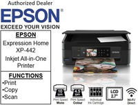 Epson XP-442 Expression  ** Free $20 NTUC vouchers Till 2nd Mar 2019 **  A4 Multi-Funtion InkJet Printer for Home XP 442