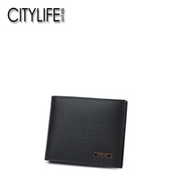 CITYLIFE Citylife Men's Wallet 2018 Spring New Style Embossed Cow Leather Wallet Youth Business Leather Wallet