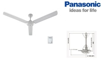 """PANASONIC 60"""" Ceiling Fan 150cm FM15A0 White (Single Piece)"""