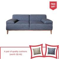 Essie 3 Seater Fabric Sofa