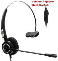 Call Center Volume and Mute Headset for AVAYA 2400 4600 series Nortel Mitel Aspire Hybrex call center headset with RJ9/RJ1 plug