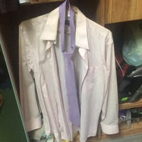 Pierre Cardin 皮爾卡登粉紅色襯衫 長袖襯衫+粉紅色領帶