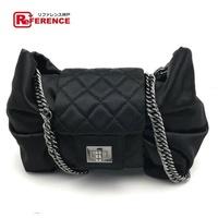 香奈兒 Chanel 緞帶鏈挎包黑色 A38445 薄荷香奈兒鏈肩 0601年樂天卡司 BRANDSHOP REFERENCE
