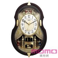 【RHYTHM 麗聲】典藏歐風小提琴造型音樂報時掛鐘(歐風提琴)