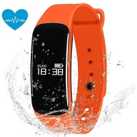 Padcod New C1 Fitness Tracker,Pedometer,Sleep Quality Monitor, Sedentary Reminder, Heart Rate Test, Blood Oxygen Detector, IP67 Water-resistant Smart Bracelet , Orange