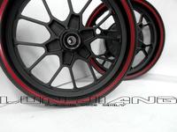 【 輪將工坊 】GW 驅動輪 黑色紅邊 九爪輪框 三陽 SYM TINI VJR MANY  非RPM 鯊 NCY