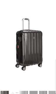 "🚚 Delsey Helium Aero 25"" 25 inch Medium Sized Size Expandable Spinner Trolley Wheeled Suitcase Luggage Brushed Charcoal Grey Only"