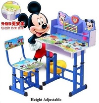Mickey Mouse Adjustable Height Table Chair Set Desk Study Table Children Table Kids Study Table