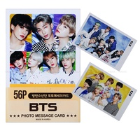 BTS Photocard 56pcs - JungKook Jin Suga Jimin V RM J-Hope Photo Message Card Photocard Set + Extra