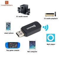LV△ Bluetooth 2.0 Music Audio Mono Receiver 3.5mm A2DP Adapter USB Wireless for Android/IOS Phone